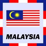 Drapeaux, drapeau et manteau de bras de la Malaisie Image libre de droits