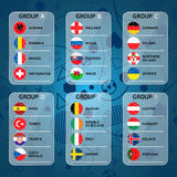 Drapeaux du championnat 2016 du football d'euro illustration libre de droits