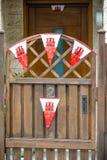 Drapeaux du Gibraltar images stock
