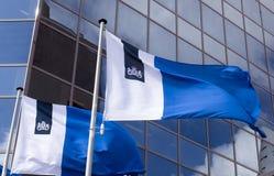 Drapeaux du gouvernement néerlandais à Rotterdam photographie stock