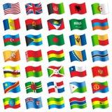 Drapeaux du monde 2 Photos libres de droits