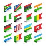 Drapeaux du monde, Afrique Photographie stock libre de droits