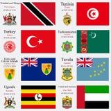 Les drapeaux et les capitaux du monde ont placé 25 illustration stock