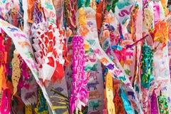 Drapeaux du nord cérémonieux de la Thaïlande de zodiaque coloré photos stock