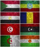 Drapeaux du nord-est de l'Afrique Photos stock