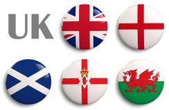 Drapeaux du Royaume-Uni Photographie stock libre de droits
