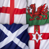 Drapeaux du Royaume-Uni de la Grande-Bretagne Image stock