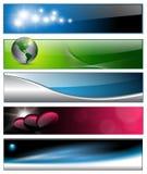 Drapeaux, en-têtes Photographie stock libre de droits