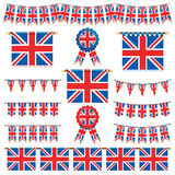 Drapeaux et étamine de la Grande-Bretagne illustration de vecteur