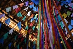 Drapeaux et junina de décoration de partie Photographie stock