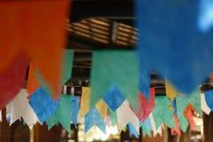 Drapeaux et junina de décoration de partie Images stock