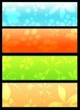 Drapeaux floraux Images stock