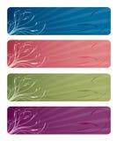 Drapeaux floraux Photo stock