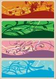 Drapeaux floraux Image stock