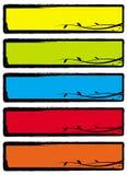 Drapeaux floraux grunges illustration de vecteur