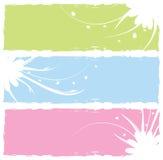 Drapeaux floraux sales Images libres de droits