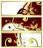 Drapeaux floraux, vecteur Image libre de droits
