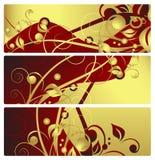 Drapeaux floraux, vecteur Image stock