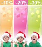 Drapeaux fous de ventes de Noël Image stock