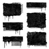 Drapeaux grunges Images libres de droits