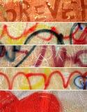 Drapeaux grunges abstraits réglés. Murs de ville Images stock