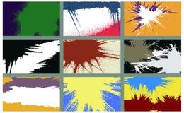 Drapeaux grunges colorés de vecteur. Images libres de droits