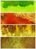 Drapeaux grunges de texture illustration stock