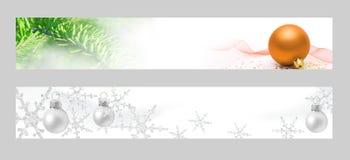 Drapeaux horizontaux de Noël Photo libre de droits