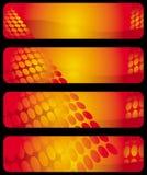 Drapeaux horizontaux modernes Photographie stock