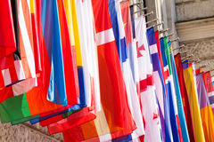 Drapeaux internationaux Photo stock