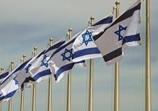 Drapeaux israéliens image stock
