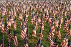 Drapeaux le Jour de la Déclaration d'Indépendance Photographie stock libre de droits