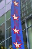 Drapeaux lumineux sur les bâtiments 2 Photos stock