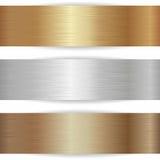 Drapeaux métalliques Images stock