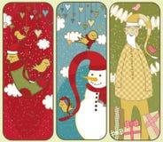 Drapeaux mignons de Noël Image stock