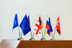 Drapeaux miniatures des pays Image libre de droits