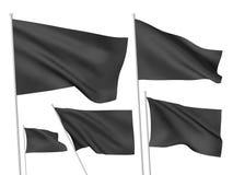 Drapeaux noirs de vecteur Image stock