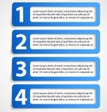 Drapeaux numérotés par abstrait Images libres de droits