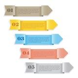 Drapeaux numérotés par papier Images stock