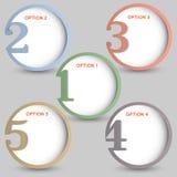 Drapeaux numérotés ronds Photos libres de droits