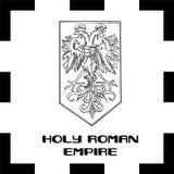 Drapeaux officiels de gouvernement de Foly Roman Empire illustration stock
