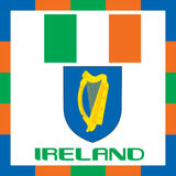 Drapeaux officiels de gouvernement de l'Irlande illustration de vecteur