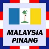 Drapeaux officiels, drapeau de la Malaisie - Pinang Photographie stock