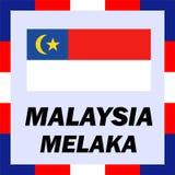 Drapeaux officiels, drapeau Malaisie - Melaka Photo libre de droits