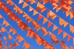 Drapeaux oranges Photos libres de droits