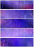 Drapeaux ou en-têtes abstraits Photo libre de droits