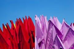 Drapeaux pour la décoration Image libre de droits