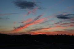 Drapeaux roses de ciel Image libre de droits