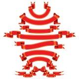 Drapeaux rouges Images stock