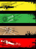 Drapeaux séparés Images libres de droits